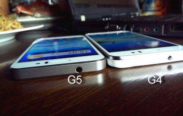 Сравнение дисплеев JiaYu G5 и